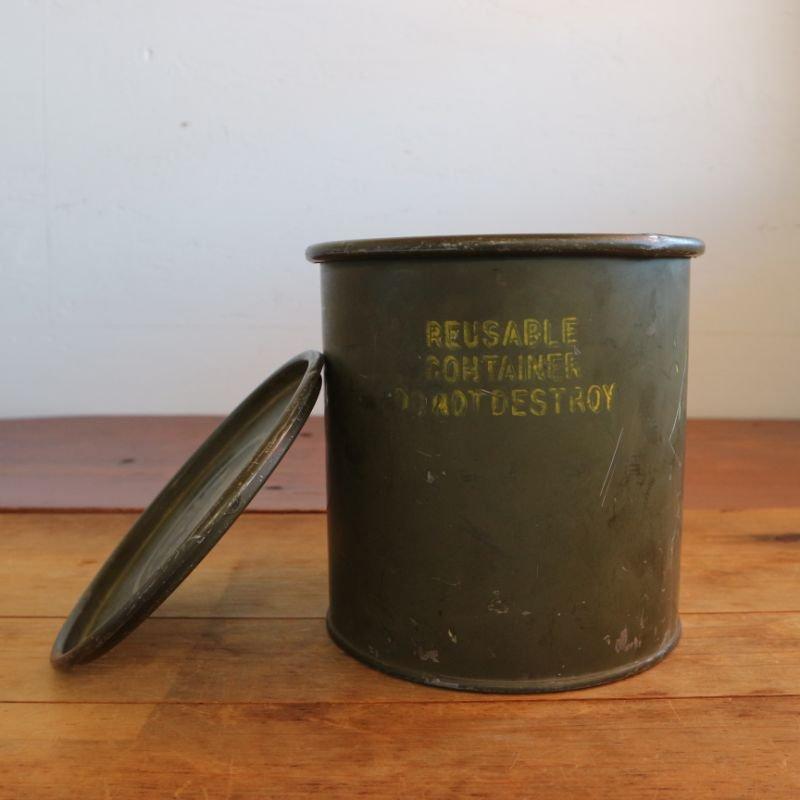 U.S.Military Vintage スチール缶