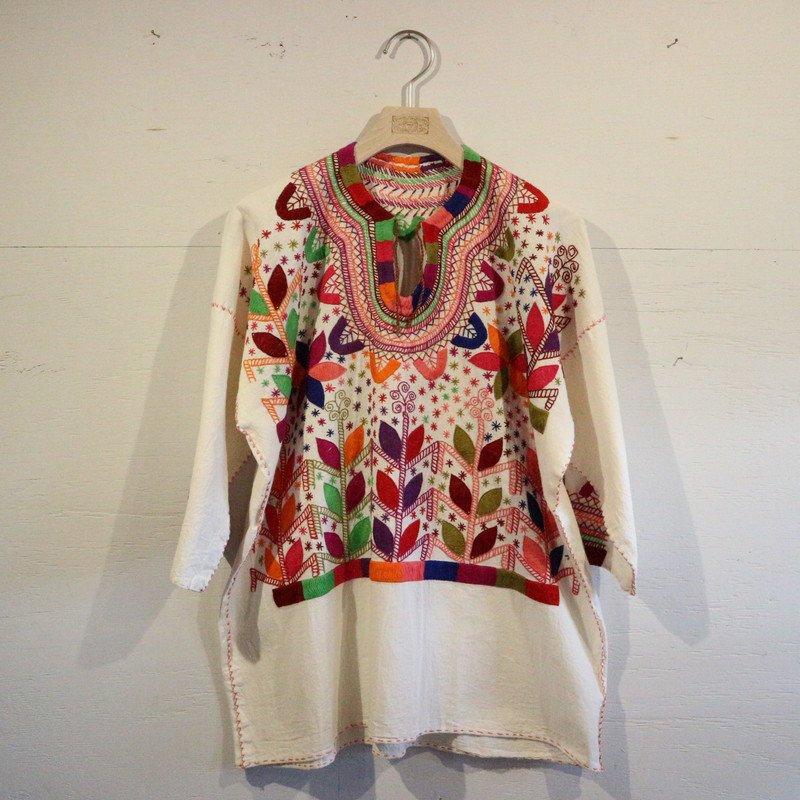 メキシコ刺繍 プルオーバーシャツ new