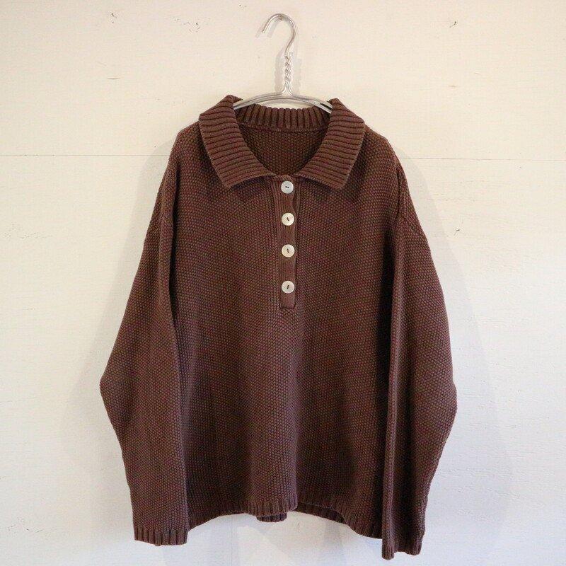 U.S.A. 鹿の子編み コットンセーター