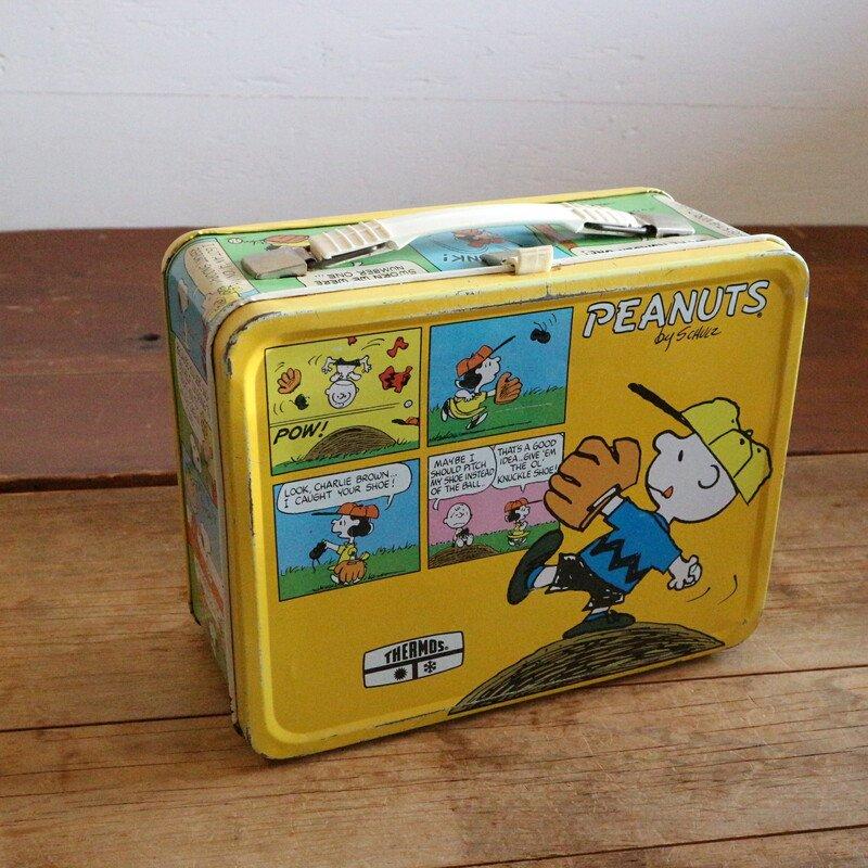 70's Peanuts Lunch BOX スヌーピー ブリキボックス
