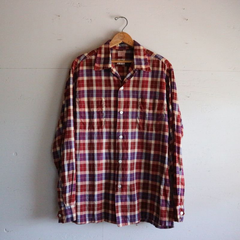 50's WOVEN IN HOLLAND ヴィンテージ L/Sチェックシャツ