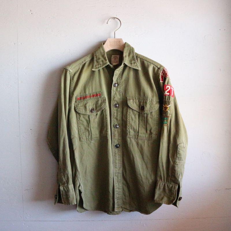 50's BOY SCOUTS OF AMERICA ボーイスカウト コットンシャツ