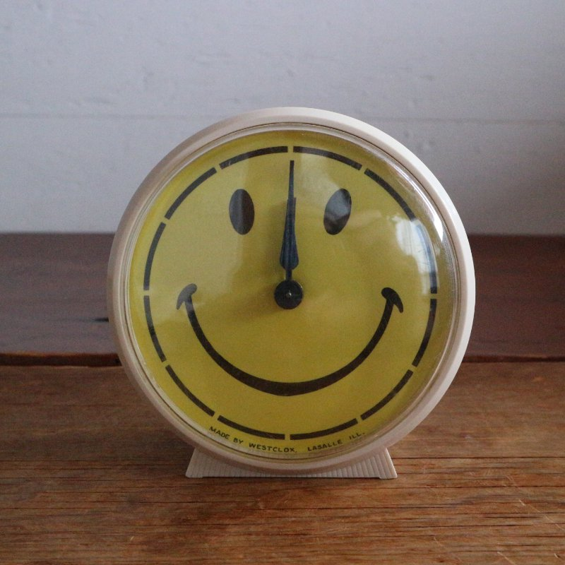 70-80's WESTCLOX スマイル目覚まし時計