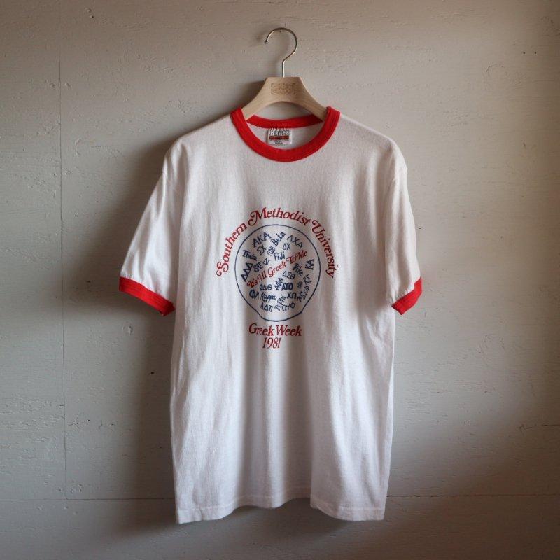 80's Hanes ヘインズ トリム リンガーTシャツ