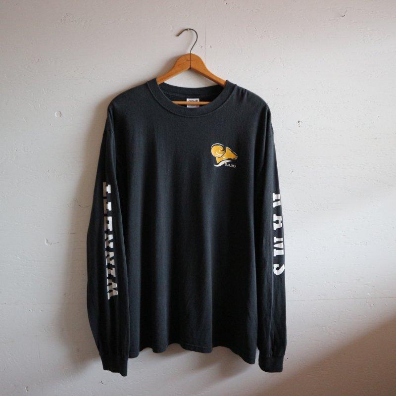 90's anvil アンビル スリーブプリント 長袖Tシャツ ロンT