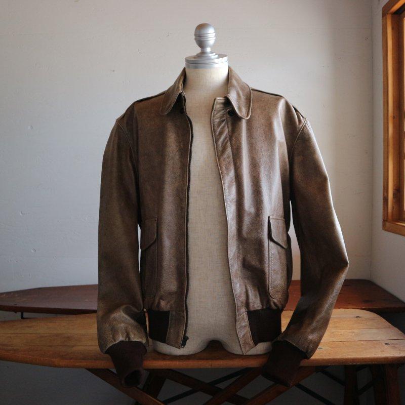 80's U.S.A. L.L.Bean LLビーン ゴートスキン 山羊革 A-2 ジャケット