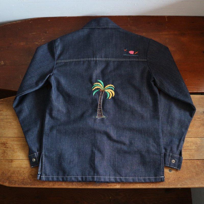 70's Sears TOUGH SKINS 手刺繍 デニム シャツジャケット