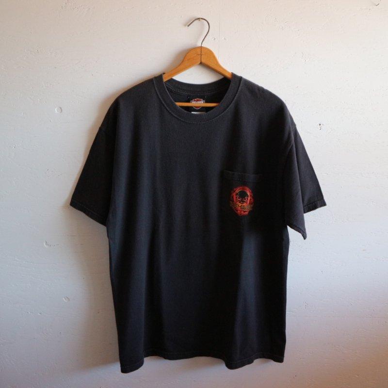 00's U.S.A. HARLEY-DAVIDSON ハーレーダビッドソン ポケットTシャツ