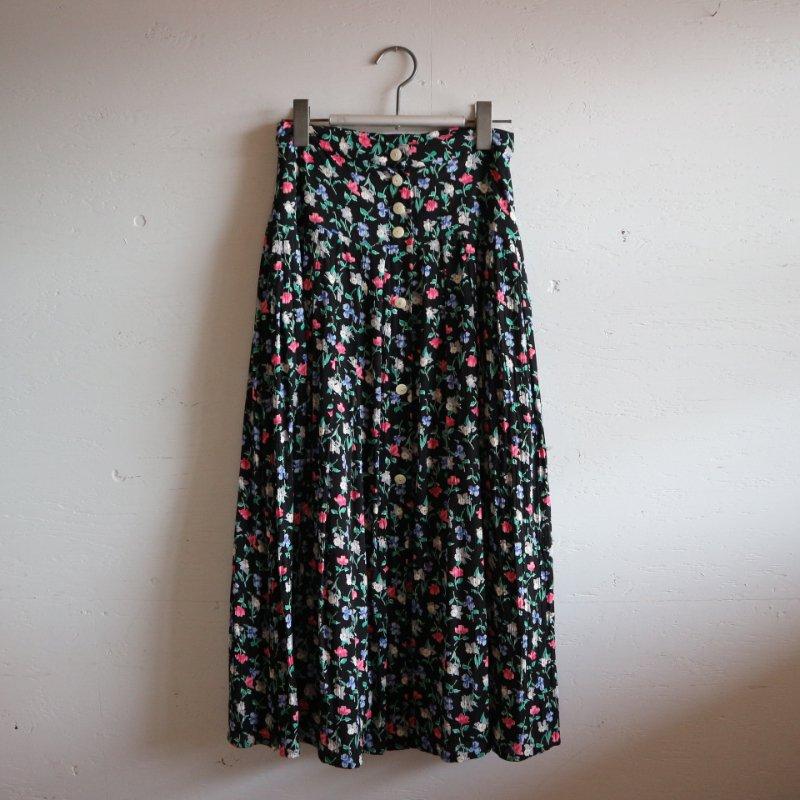 小花柄 前開きスカート w25