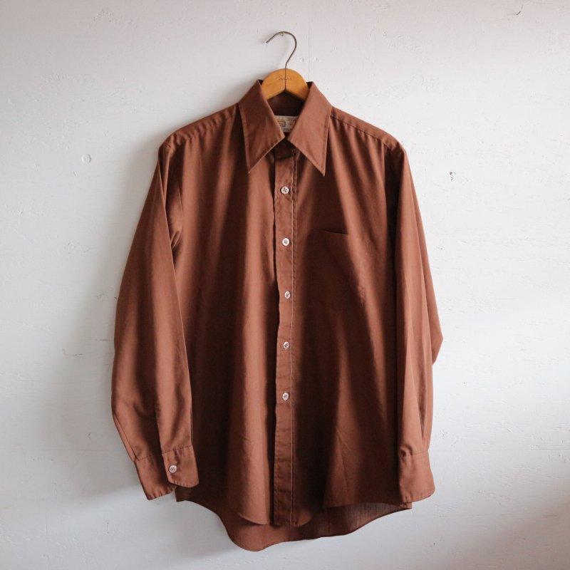 70's Cranbrook 襟芯あり 長袖無地シャツ