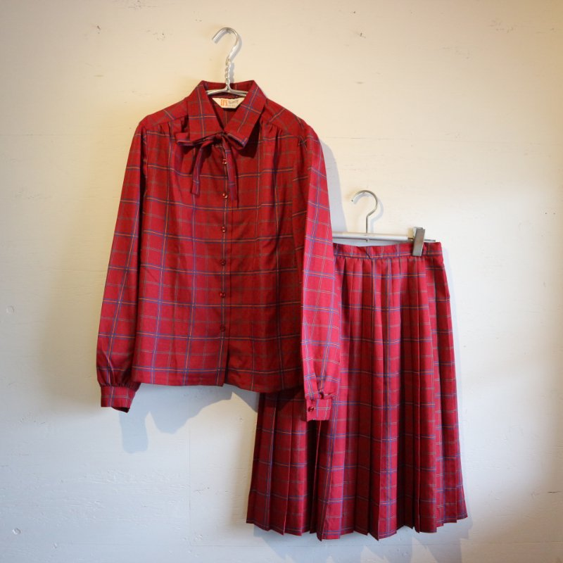 Made in U.S.A. Shirt+Skirt ブラウス スカート セットアップ w28