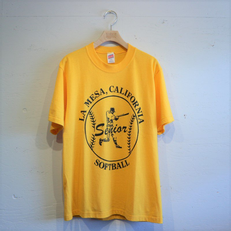 80-90's DEAD STOCK SOFFE SOFTBALL T-shirt M