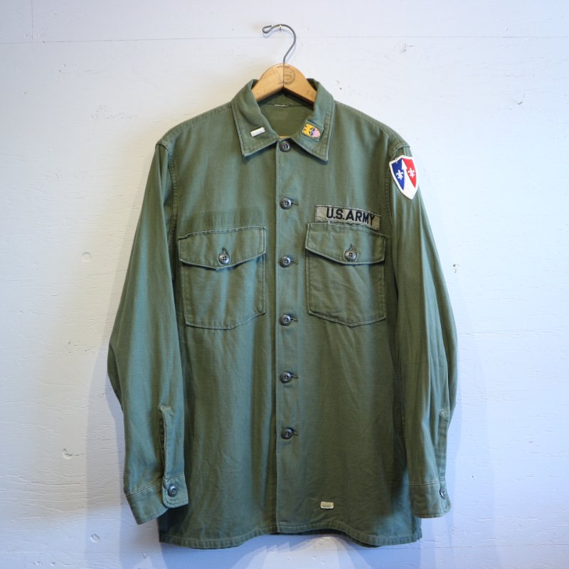 60's U.S.Military OG-107 Utility Shirt コットン アーミーシャツ