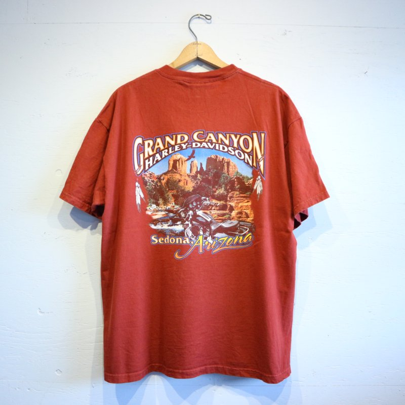 00's U.S.A. HARLEY DAVIDSON GRAND CYANYON T-shirt