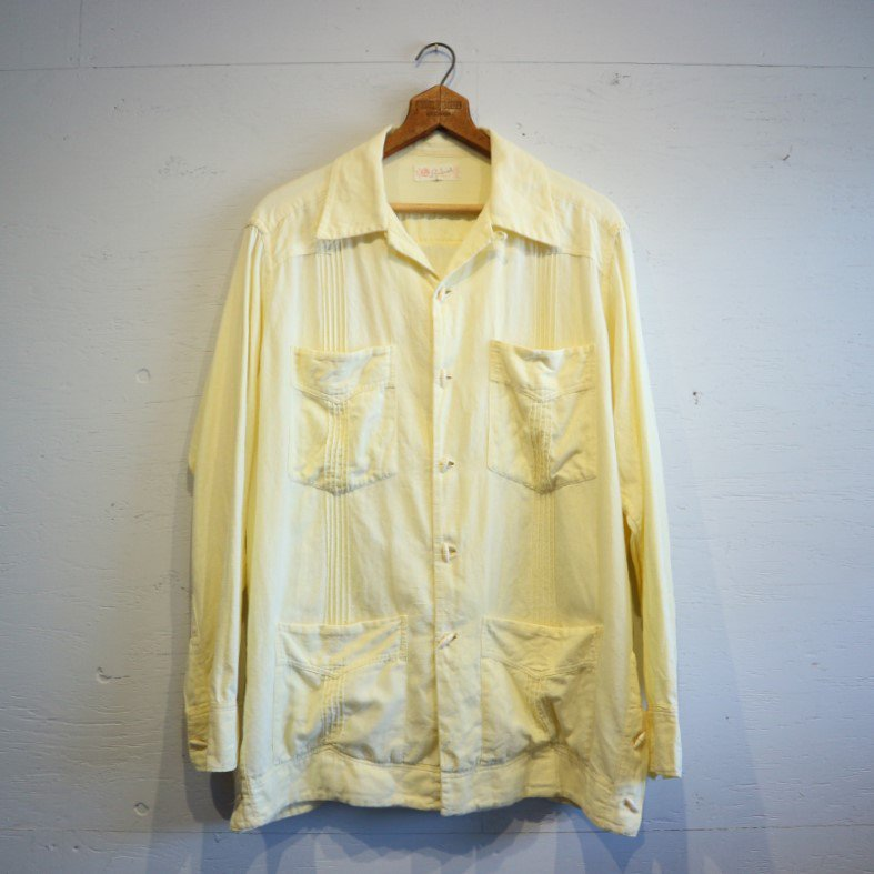 60-70's Vintage Mexican Cotton shirt キューバシャツ メキシカンシャツ