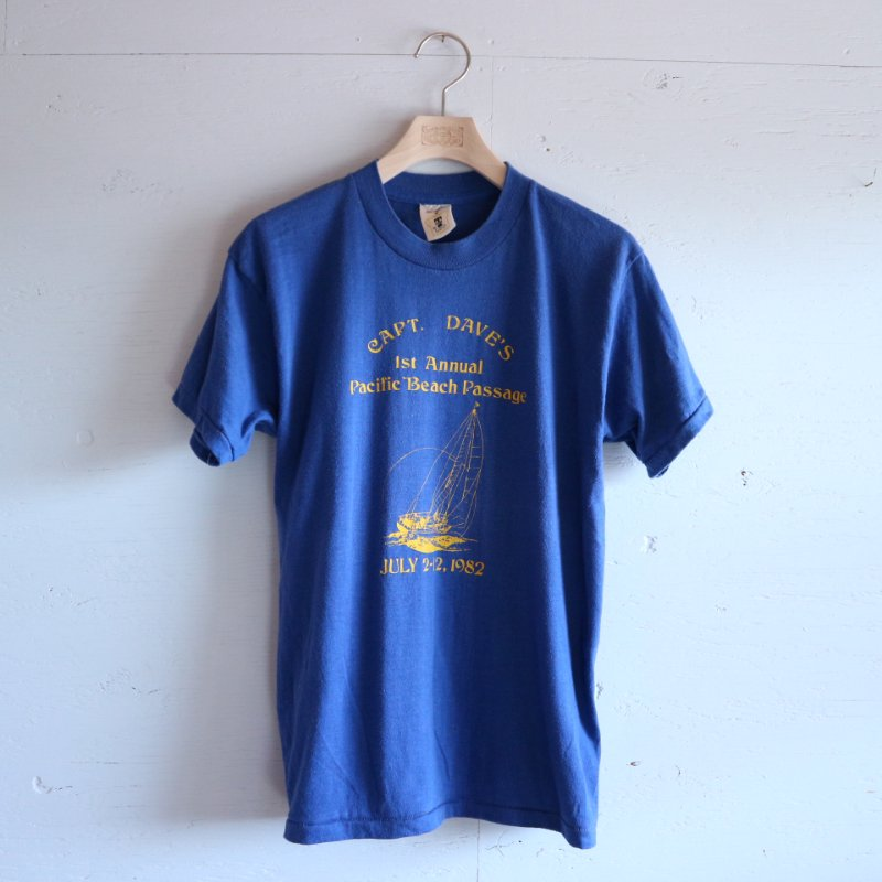 80's Fine Apparel ヨットプリント Tシャツ M