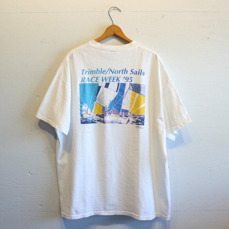 90's U.S.A.製 ONEITA Trimble North Sails Tシャツ XXL