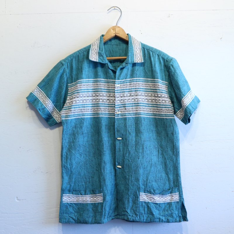 UNKNOWN Ethnic Shirt Guatemala刺繍 半袖シャツ