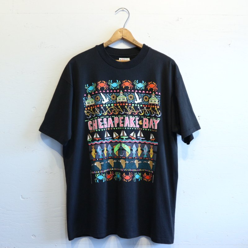 90's Hanes50/50 ヘインズ CHESAPEAKE BAY T-shirt Tシャツ XL