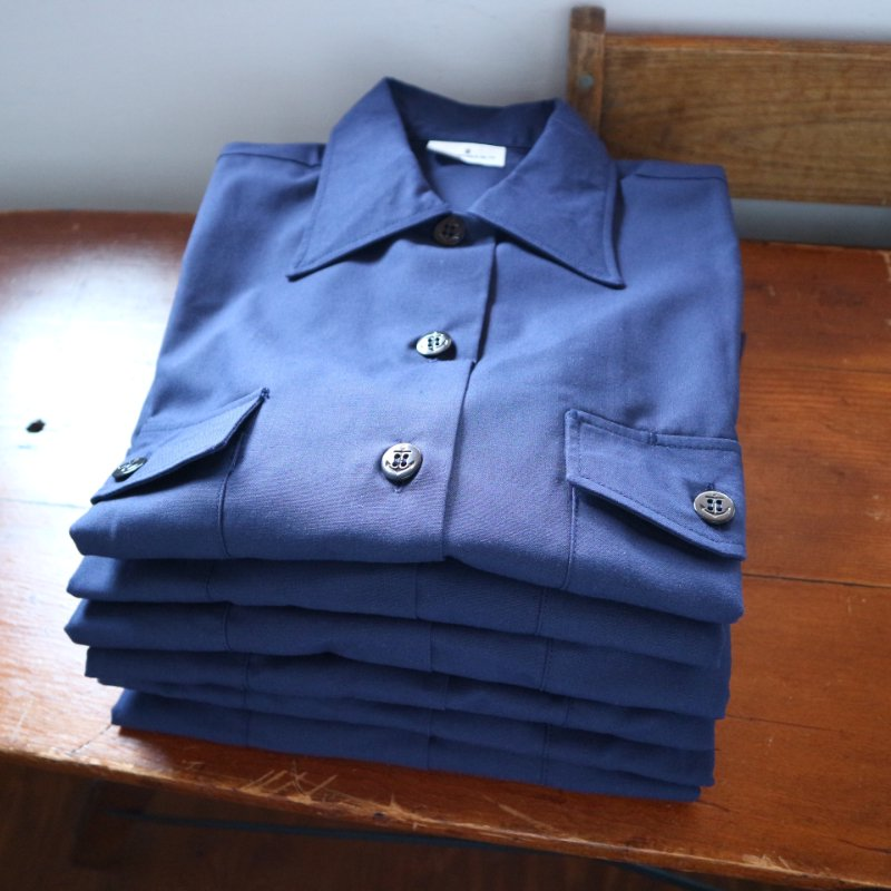 <img class='new_mark_img1' src='https://img.shop-pro.jp/img/new/icons1.gif' style='border:none;display:inline;margin:0px;padding:0px;width:auto;' />00's NOS U.S.NAVY Utility Shirt デッドストック S/S ユーティリティシャツ M