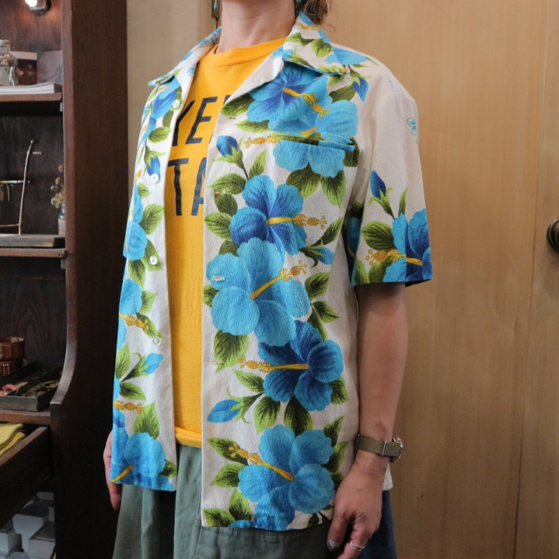 70's Hawaii U.S.A. Vintage Cotton Aloha shirt アロハシャツ