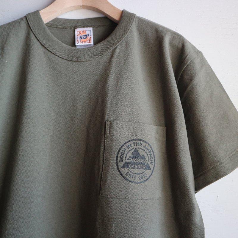 9th Anniversary Sunny Garden ポケットTシャツ col.アーミーグリーン