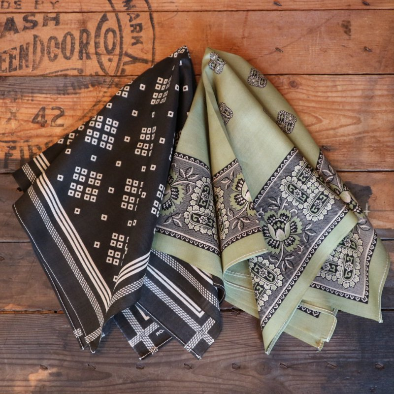 <img class='new_mark_img1' src='https://img.shop-pro.jp/img/new/icons1.gif' style='border:none;display:inline;margin:0px;padding:0px;width:auto;' />【Two Ears Brand】 TWO SIDE SELVEDGE BANDANNA