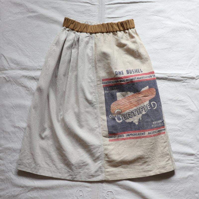 USシードサック × ミリタリークロス ヴィンテージリメイクスカート #1