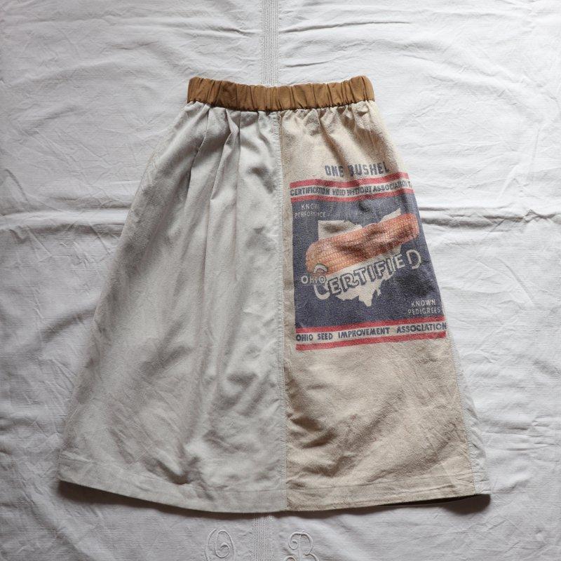 USシードサック × ミリタリークロス ヴィンテージリメイクスカート #3