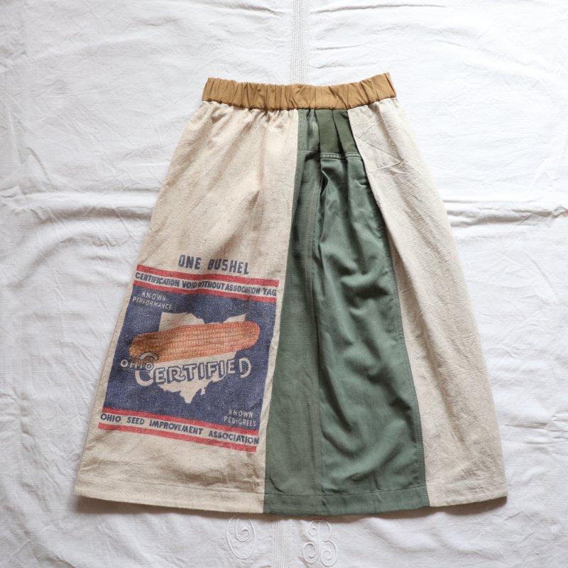 USシードサック × ミリタリークロス ヴィンテージリメイクスカート #5