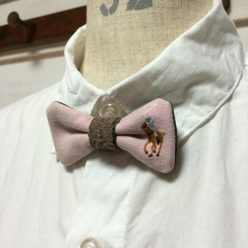 Remake Bow tie brooch RalphLauren shirt リメイク ラルフローレン 蝶ネクタイ