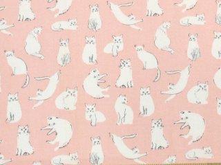 手描き猫 ピンク
