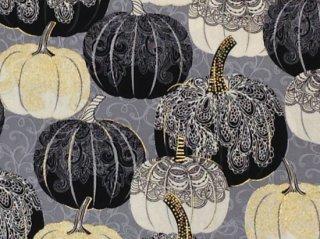 レース模様のかぼちゃ柄