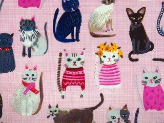 手描き風おしゃれ猫 ピンク