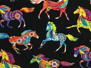 フォークロア模様の馬 ブリリアントカラー