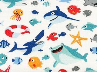 サメ カートゥーン ホワイト