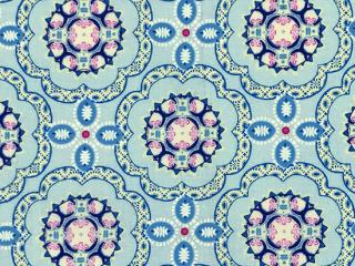 陶器柄風 花 ペールブルー