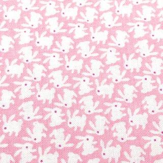 極小うさぎ トス柄 ピンク
