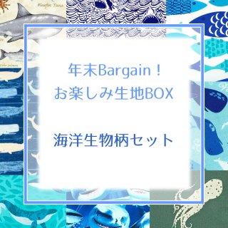 お楽しみ生地BOX -海洋生物柄セット-
