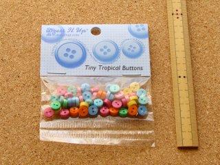 ミニサイズボタン トロピカルカラーMIX
