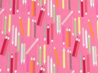 色鉛筆柄 ピンク