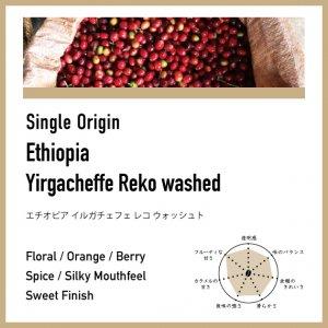 【浅煎り】エチオピア / イルガチェフェ・レコ ウォッシュト
