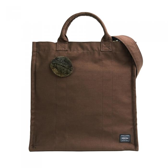 【予約商品・発送2021年11月以降】2WAYトートバッグ「L」&お豆ムートンバッジ