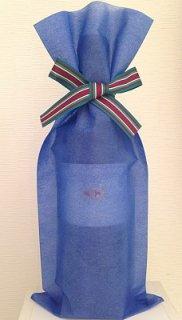 ボトルラッピング ブルー