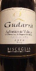 グダッラ アリアニコ デル ヴルトレ DOC 2006 フルボディ 赤ワイン