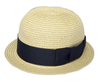 <img class='new_mark_img1' src='https://img.shop-pro.jp/img/new/icons5.gif' style='border:none;display:inline;margin:0px;padding:0px;width:auto;' />★chocolatesoup★PAPER BRAID BOWLER HAT BLACK ペーパーブレード ボウラーハット ブラック