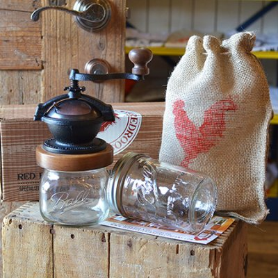CAMANO COFFEE MILL & 16oz MASON JAR SET