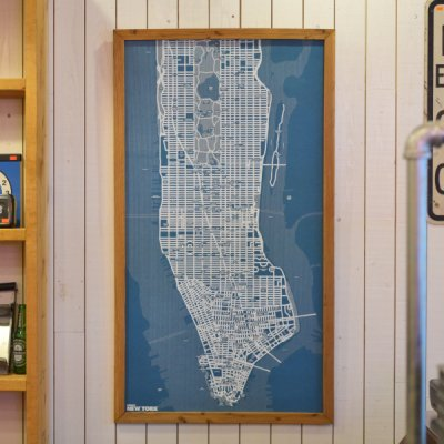 "Pin Map Frame""New york"""