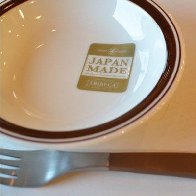 BROWN LINE Oatmeal Plate