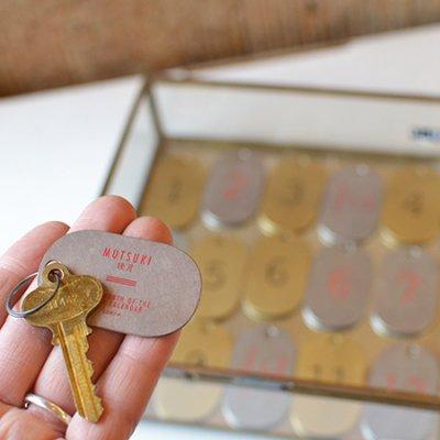 """Lunar Calendar Plate Key Tag """"Silver"""""""